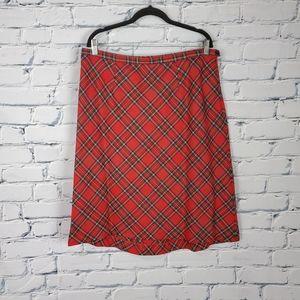 Pendleton Vintage Red Plaid Skirt